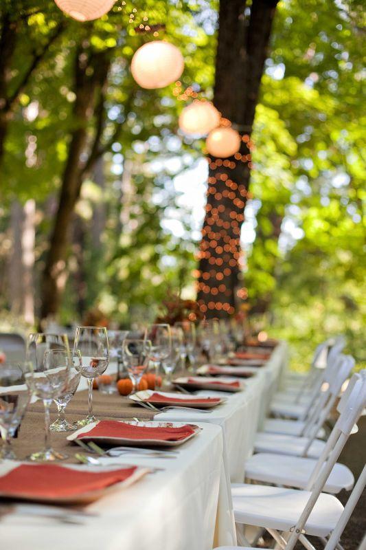 Decoration de mariage champetre r tro en lin d couvrir - Deco de table vintage ...