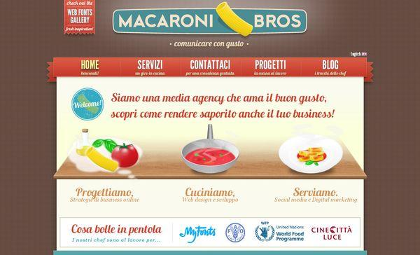 macaronibros - site avec illustration