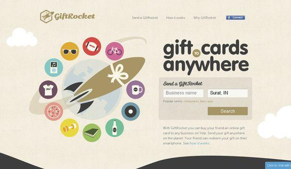 giftrocket - site avec illustration