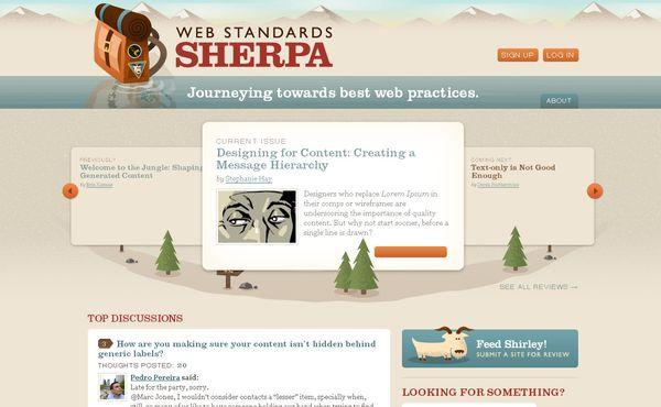 webstandardssherpa - site avec illustration