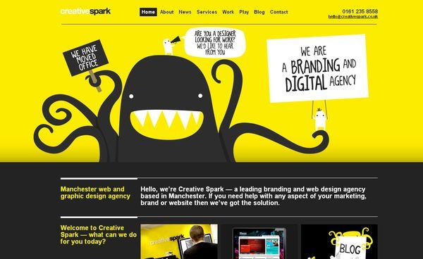 creativespark - site avec illustration