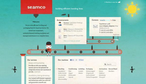 seamco - site avec illustration