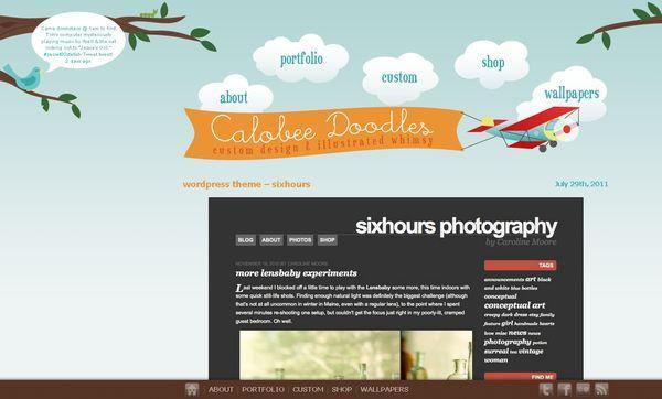 calobeedoodles - site avec illustration