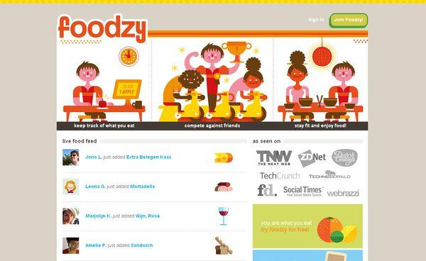 Foodzy - site avec illustration