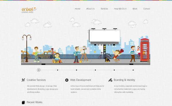 enixel - site avec illustration