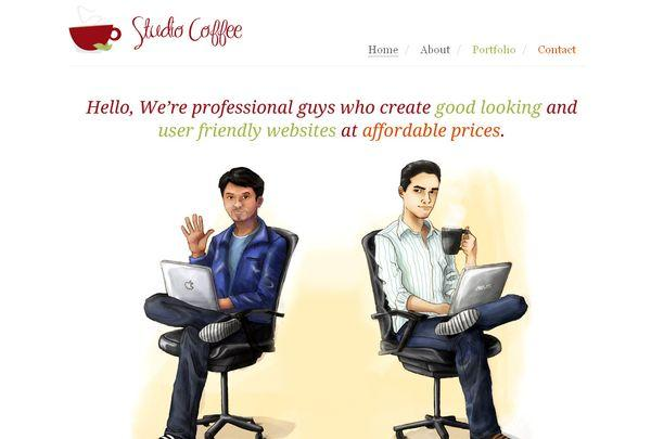 studiocoffee - site avec illustration