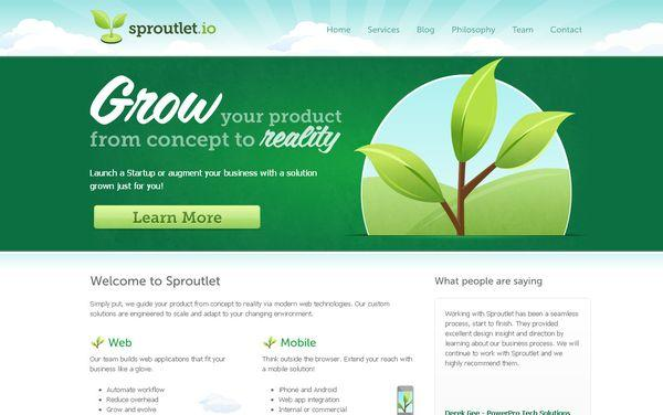 sproutlet - site avec illustration