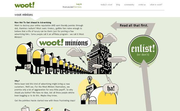 woot - site avec illustration