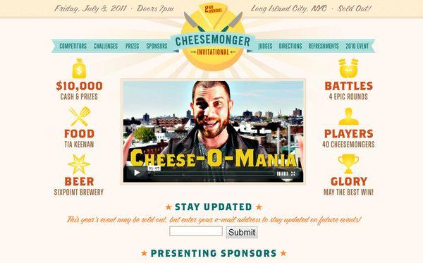 cheesemongerinvitational - site avec illustration