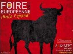 c6aafdabc307 Corrida taureau toro espagnolades de foire européenne Strasbourg 2011 le  toro Osborne facho provoque aussi le Maroc