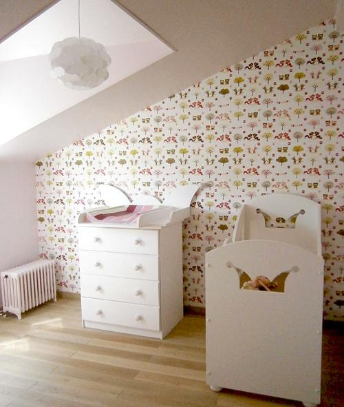 mur papier peint chambre enfants paperblog. Black Bedroom Furniture Sets. Home Design Ideas