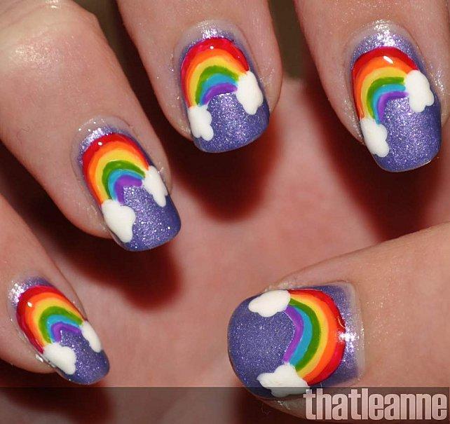 Thatleanne Chococat Nail Art: La Rainbow-manucure: Quand Une Couleur Ne Suffit Plus