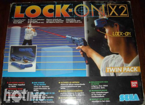sega lock on x2 twin pack pistolet laser game voir. Black Bedroom Furniture Sets. Home Design Ideas