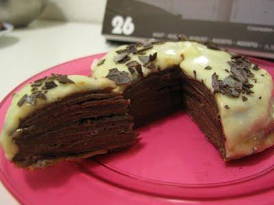 dessert g 226 teau de cr 234 pes cacao au chocolat noir croustillant de meringue nappage chocolat