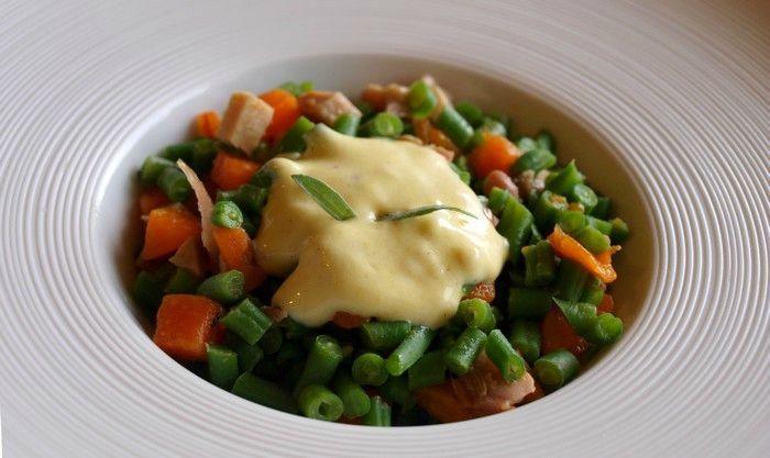 Salade tiède d'haricots verts, poulet et carotte Salade-tiede-dharicots-verts-poulet-carotte-s-L-Obodu3