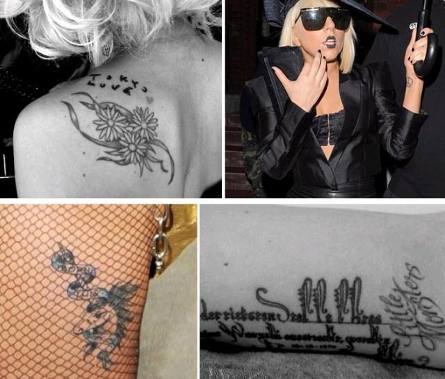 La folie des tatouages chez les stars voir for Bouton cuisse interieur