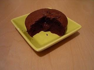 Gâteau au chocolat au coeur fondant
