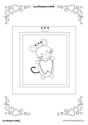 Coloriages petite souris paperblog - Dessin de petite souris ...