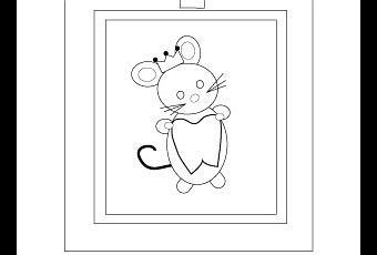 Coloriages petite souris paperblog - Coloriage petite souris ...