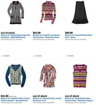 Missoni products