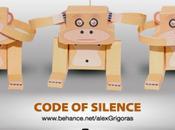 Code Silence Monkey papertoy