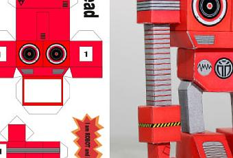papertoy rorobotan by dyadic voir. Black Bedroom Furniture Sets. Home Design Ideas