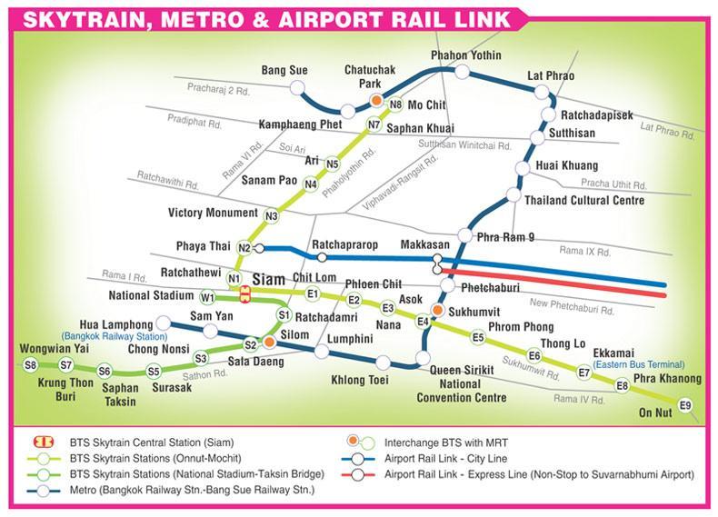 skytrain map bangkok