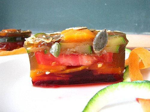 aspic de legumes au bouillon ariak voir. Black Bedroom Furniture Sets. Home Design Ideas