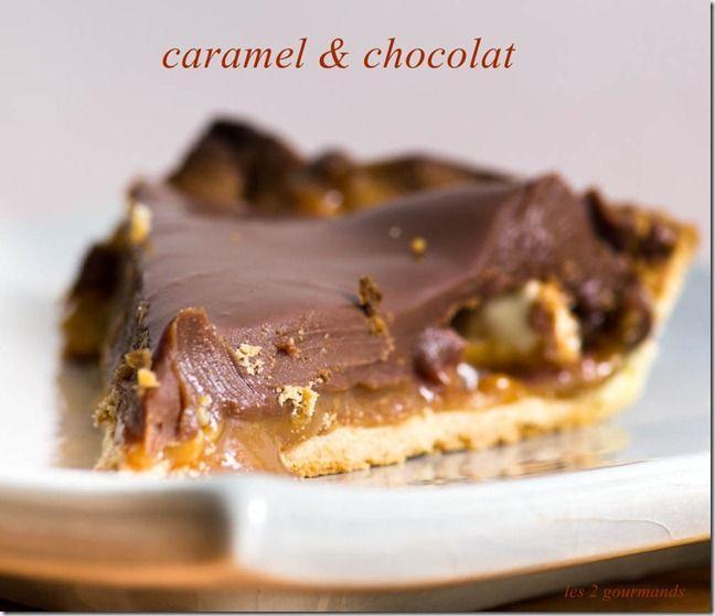 tarte craquante chocolat au lait et caramel au beurre sal paperblog. Black Bedroom Furniture Sets. Home Design Ideas