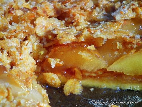 tarte crumble aux pommes confites la grenadine paperblog. Black Bedroom Furniture Sets. Home Design Ideas