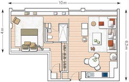 Un appartement deux pi ces enti rement d cor et for Appartement 2 pieces yverdon