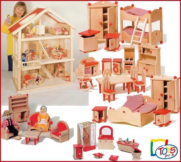 Pre order de no l la maison de poup e en bois meubl e paperblog - Maison de poupees en bois ...