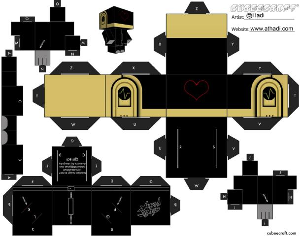 Papertoys Daft Punk by Hadi (x 2)