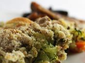 Crumble courgettes noisettes parmesan