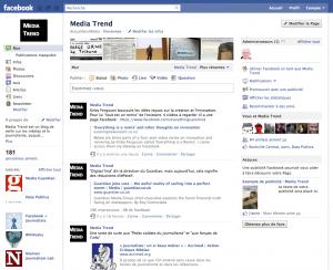Page fan Facebook, Media Trend