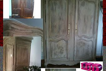 armoire relook e patine avant apr s d couvrir. Black Bedroom Furniture Sets. Home Design Ideas