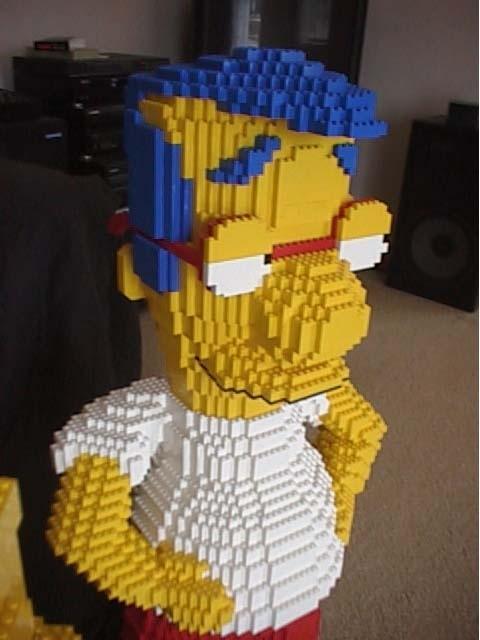 Milhouse des simpsons tout en lego paperblog - Bart et milhouse ...