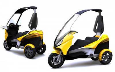 tendance le scooter 3 roues voir. Black Bedroom Furniture Sets. Home Design Ideas