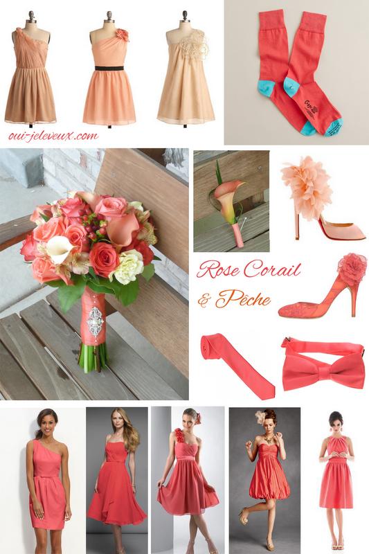 Une décoration de mariage rose corail et pêche? Oui, je le veux ...