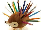 hérisson porte crayon