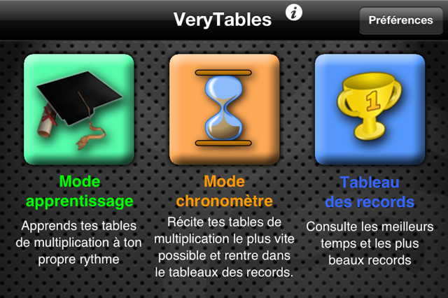 Verytables l application iphone pour apprendre les tables - Application pour apprendre les tables de multiplication ...