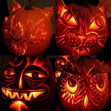 Halloween nos portes paperblog - Citrouille halloween qui fait peur ...