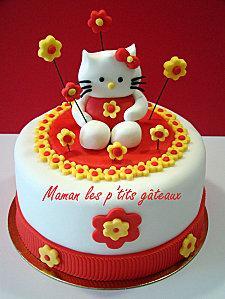 gateau hello kitty - Pate A Sucre Colore