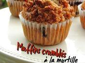 Muffins crumblés, myrtille