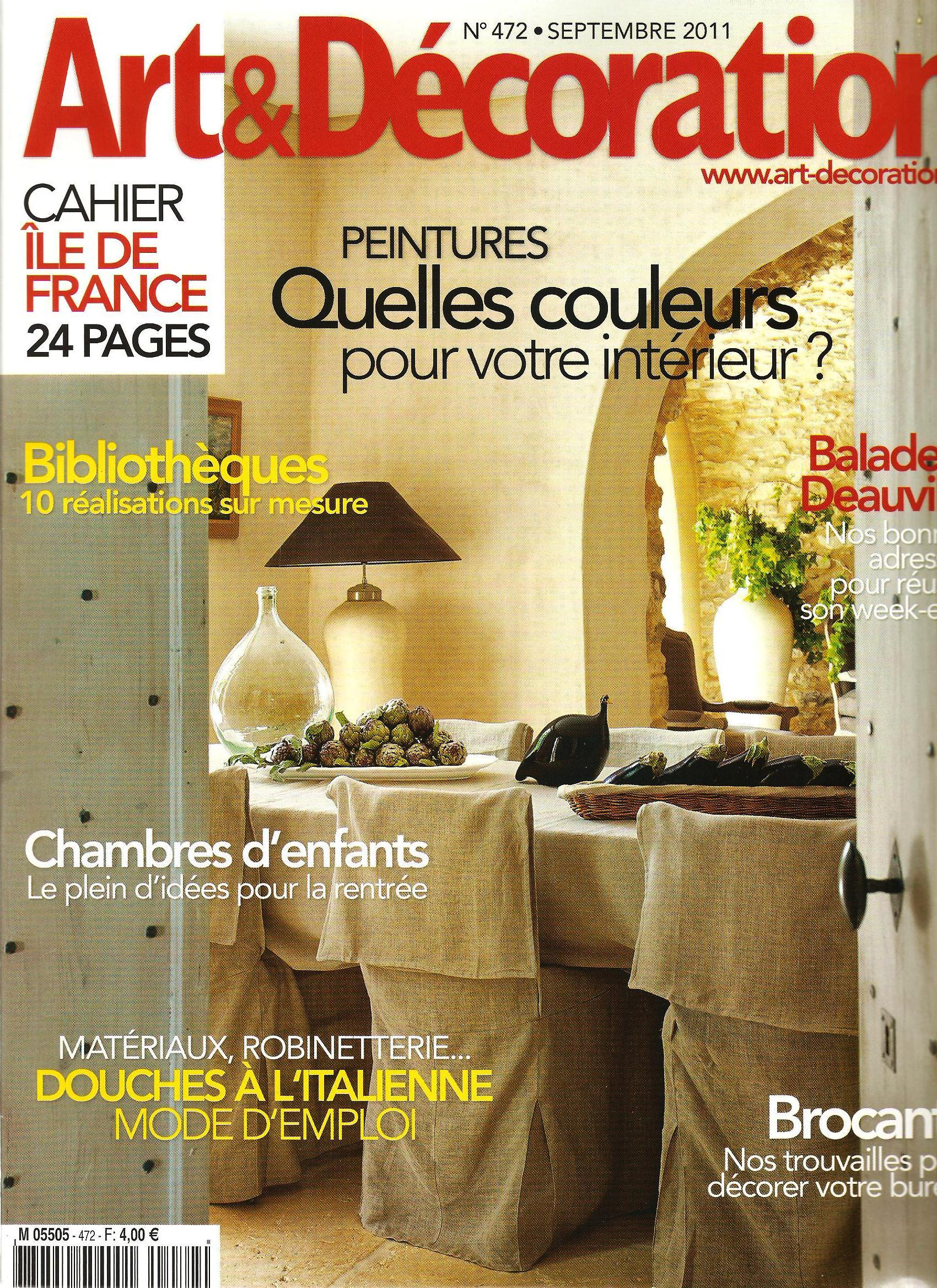 la lampe giant de muno dans le magazine art d coration. Black Bedroom Furniture Sets. Home Design Ideas