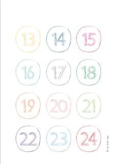 Les chiffres du calendrier de l avent paperblog - Chiffres pour calendrier de l avent a imprimer ...