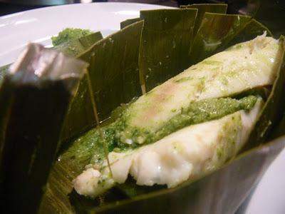 ... de bananiers – Fish steamed in banana leaves - Patra ni Macchi