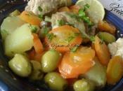 Tajine Zeitoun (Tajine olives avec poulet ,pommes terre carottes