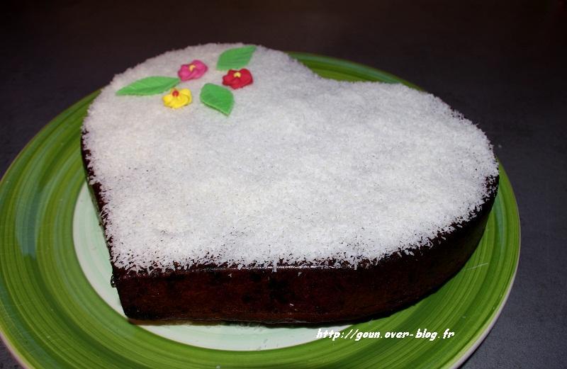 Recette de gateau chocolat blanc noix de coco