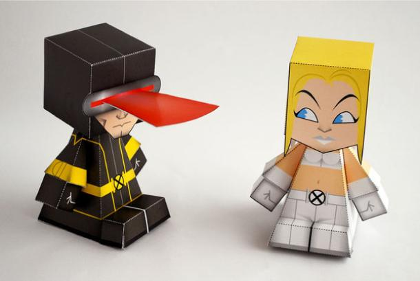 Papertoys X-Men de LRK (x 7)